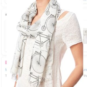 Mona B Wanderlust Scarf Novelty Bicycle Tricycle